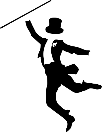 Tap Dance Silhouette Images.