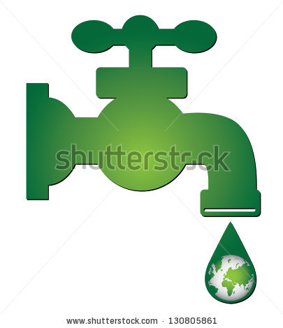 Save Water Concept Present By Green Stock Illustration 130805861.