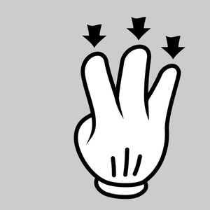 298 5 fingers free clipart.