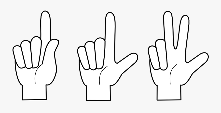 One Two Three Finger Png , Free Transparent Clipart.