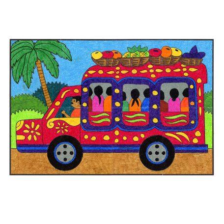 Haiti Tap Tap Truck Mural.