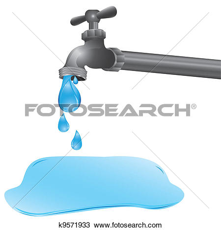 Stock Illustrations of steel made water tap, water cock, water.