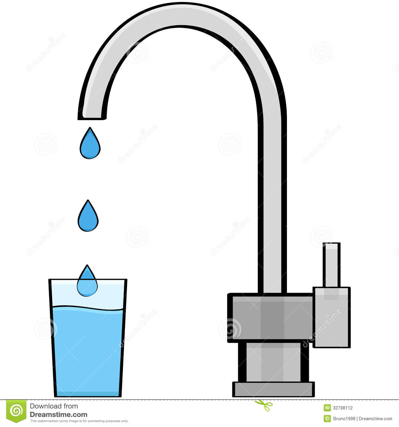 Tap Water Uses Clipart.
