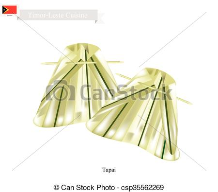 Clip Art Vector of Tapai or Traditional Timor.