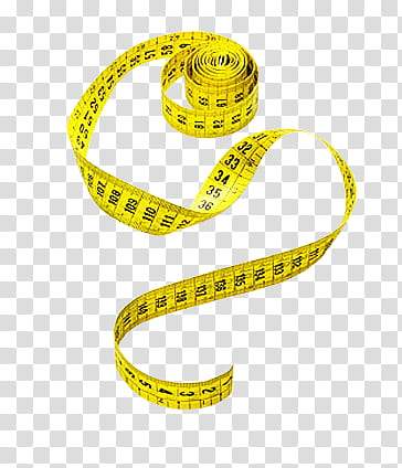 Measure, yellow tape measure transparent background PNG.