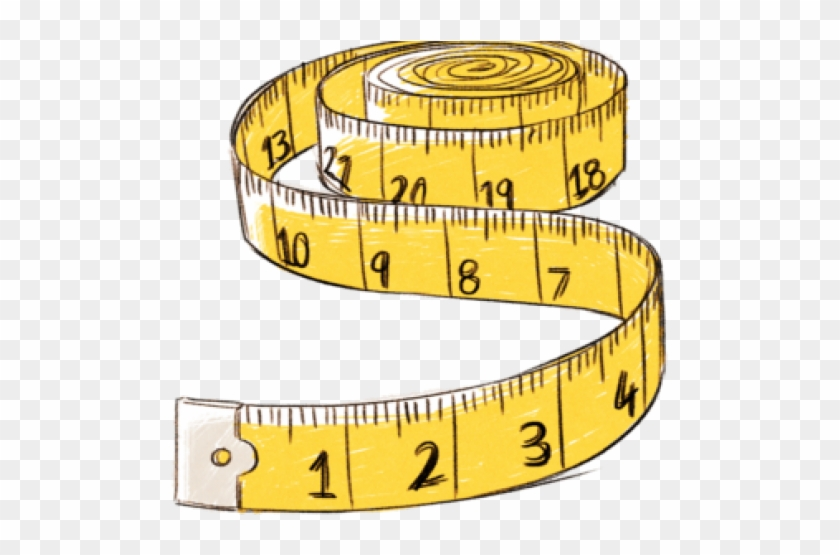 Long Clipart Measuring Tape.