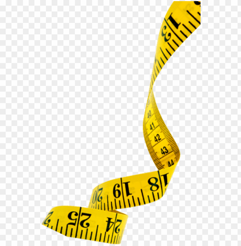 yellow tape measure PNG image with transparent background.