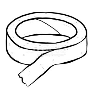 sticky paper tape roll Clipart Image.