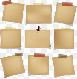 Taped Note PNG Images.