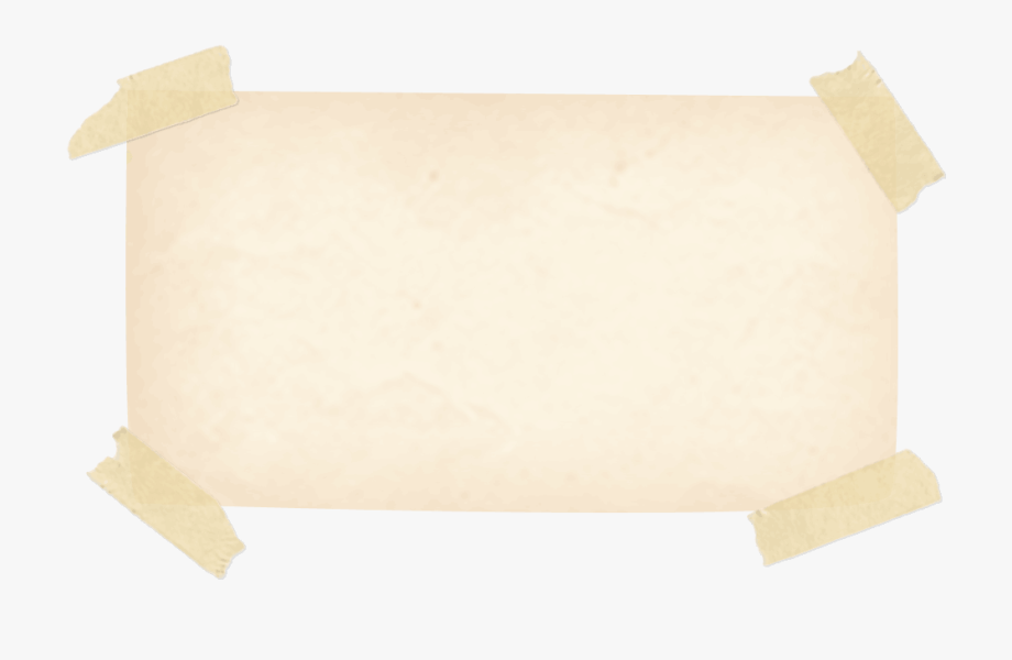 Taped Note Png.