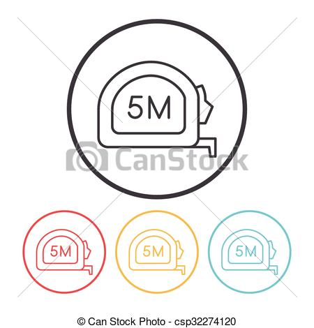 Vector Illustration of Measuring tape line icon csp32274120.