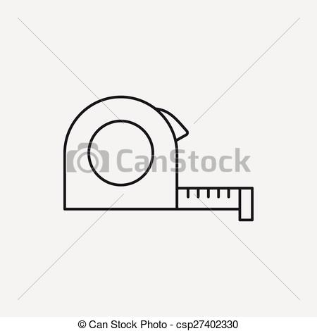 Vectors of Measuring tape line icon csp27402330.