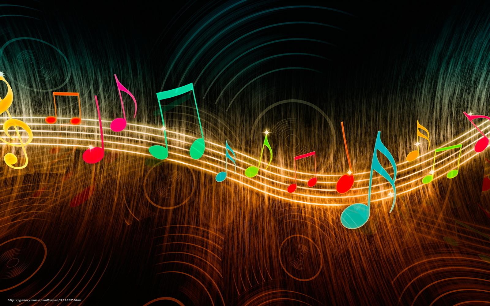 Colorful Music Desktop Clipart.