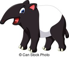Tapir cartoon Vector Clip Art Illustrations. 82 Tapir cartoon.