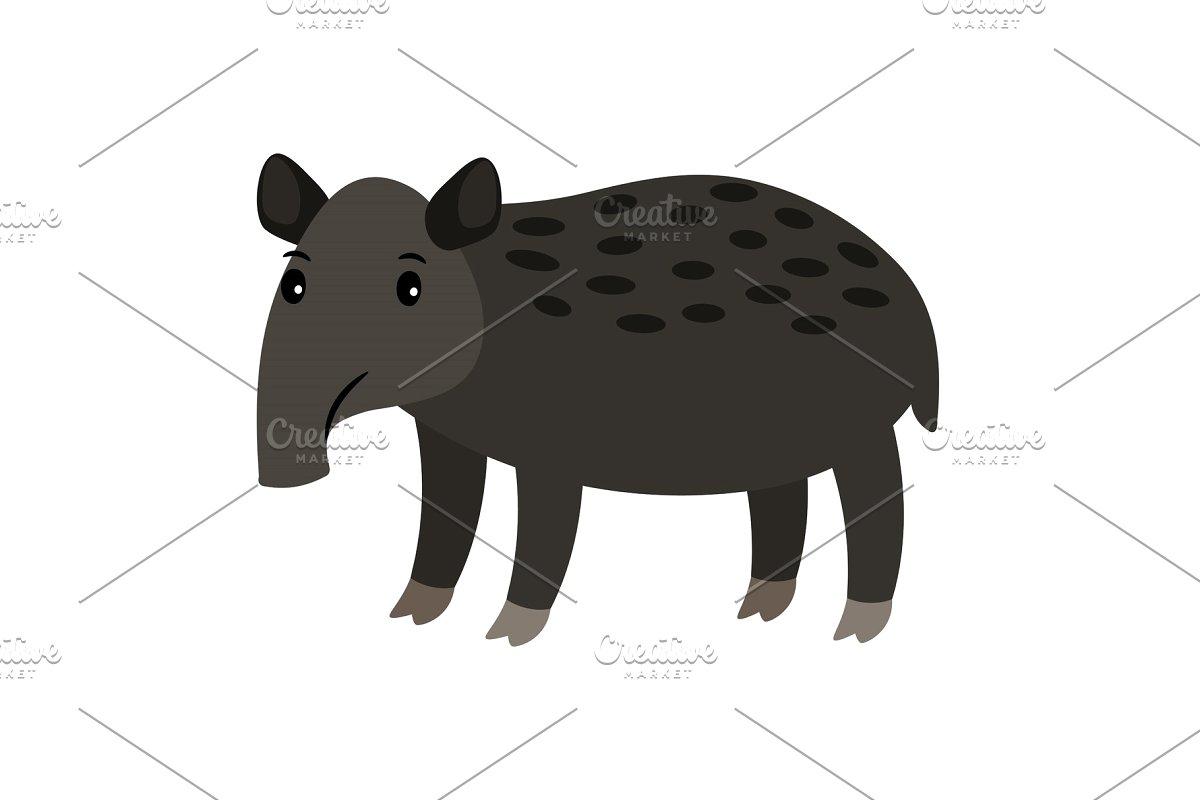 Tapir cartoon icon.