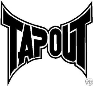 Details about Tapout Logo Vinyl Decal Approx. 6\