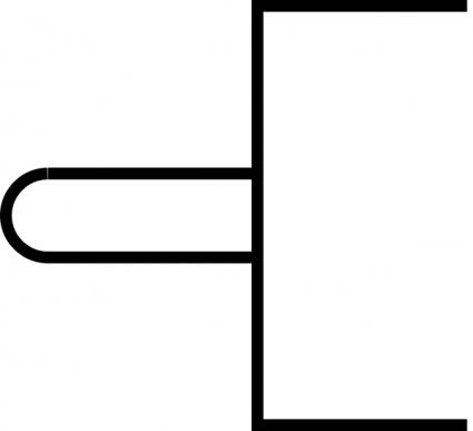 Symbol Tappet On Vent clip art Free Vector.