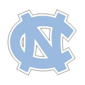 North Carolina Tar Heels Logo Decal.