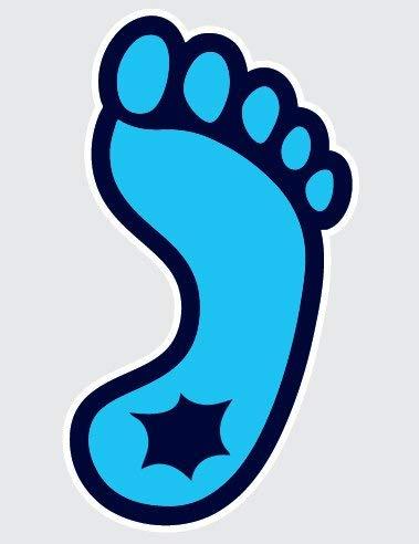 North Carolina Tar Heels TAR HEEL FOOT LOGO 5\