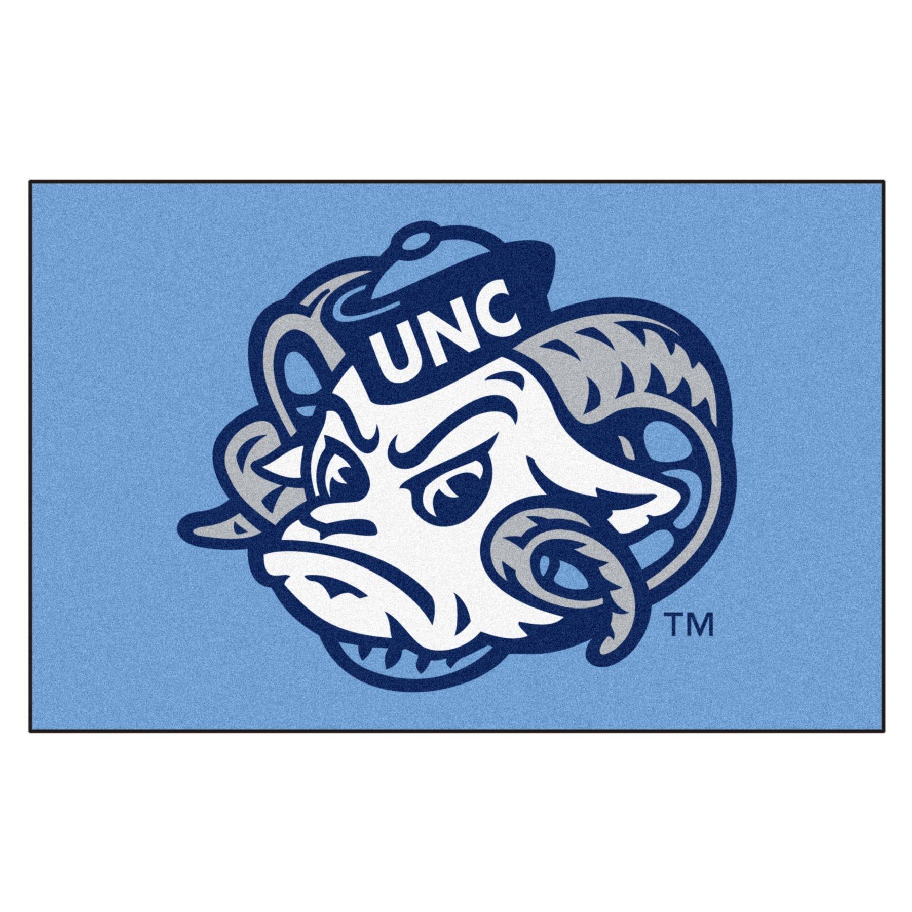 University of North Carolina Tar Heels Logo Area Rug.