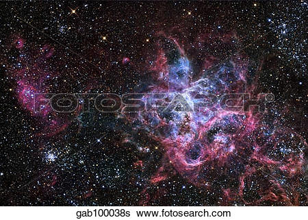 Stock Images of The Tarantula Nebula, a star forming region.