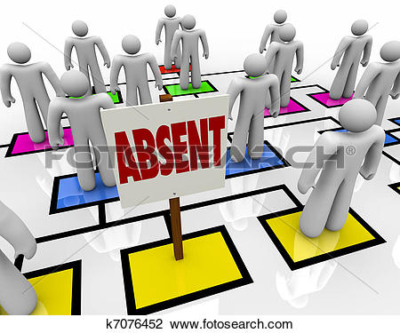 Stock Photo of Absent Person on Organizational Chart.