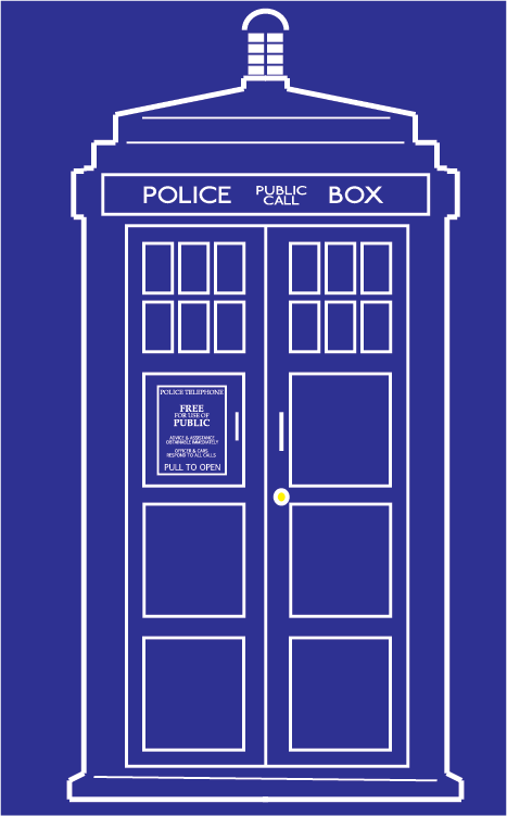I needed an outline vector version of the TARDIS and couldn.