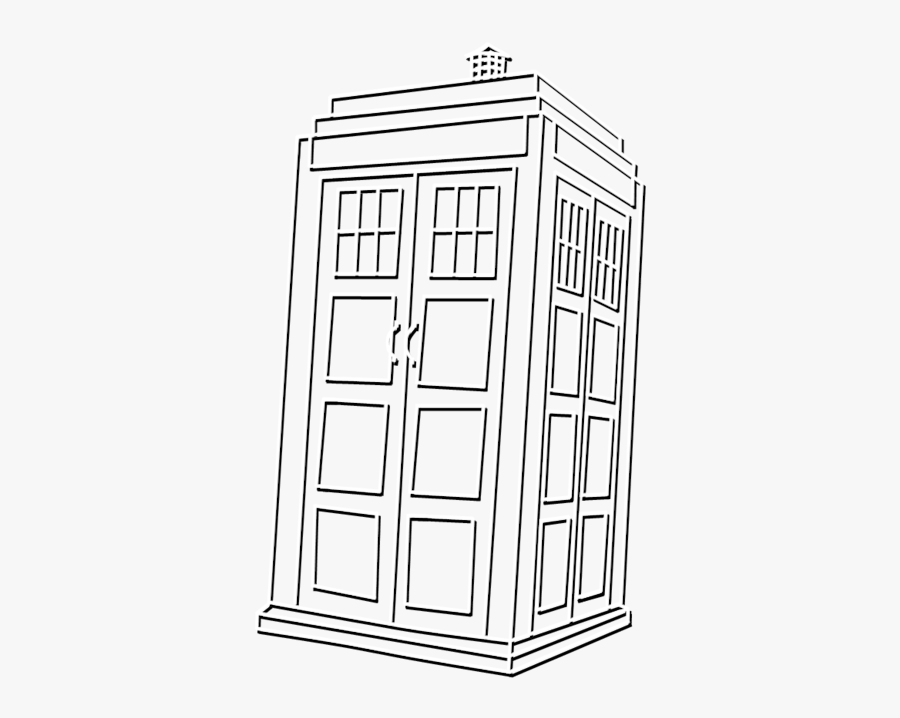 Black And White Tardis Png , Free Transparent Clipart.