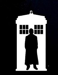 Dr Who Tardis Guy Decal Vinyl Sticker.