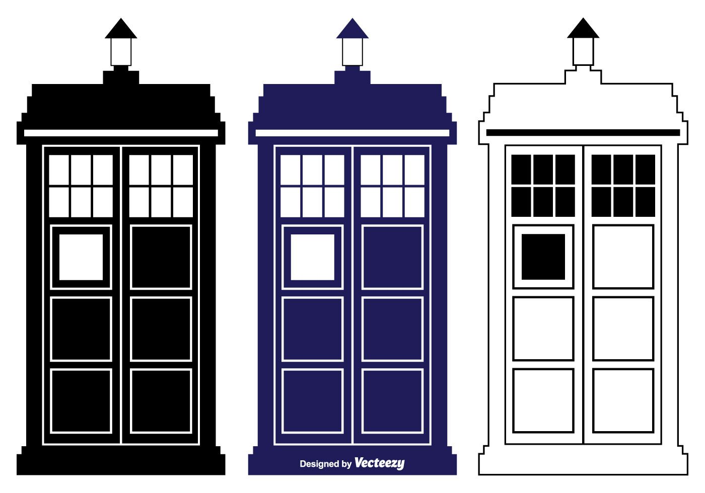 Police Box TARDIS vectors Doctor Who TARDIS Door.