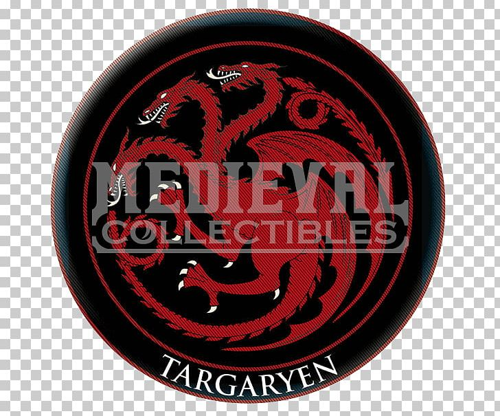 House Targaryen Logo Embroidered Patch Book Font PNG.