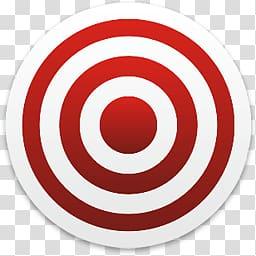 Target logo, Red White Target transparent background PNG.