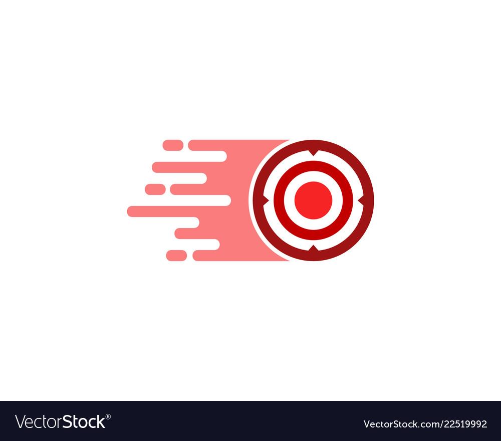 Speed target logo icon design.