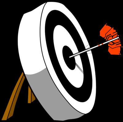 Arrow In Target Clipart.