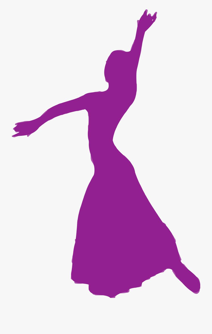 Dancer Clipart Purple.