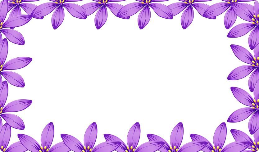 Un marco de flor morada.