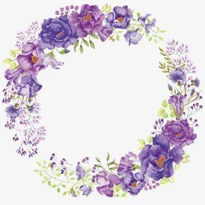 Purple Flower Wreath, Purple, Flores, Petal Imagen PNG para.