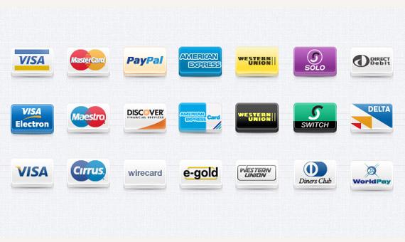 Iconos de tarjetas de crédito en png.