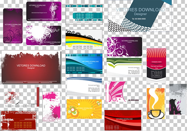 Diseño gráfico de la marca de tarjetas de presentación.