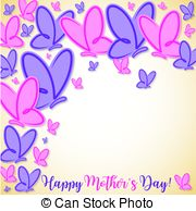 Happy mother\'s day butterfly card in vector format..