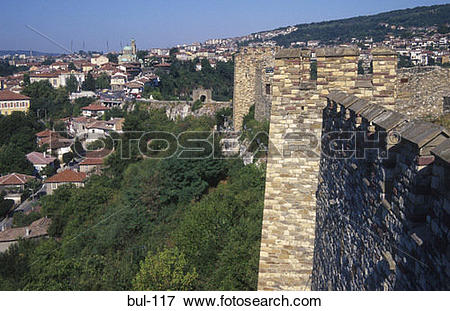 Picture of Executioners Rock at Tsarevets Citadel Veliko Tarnovo.