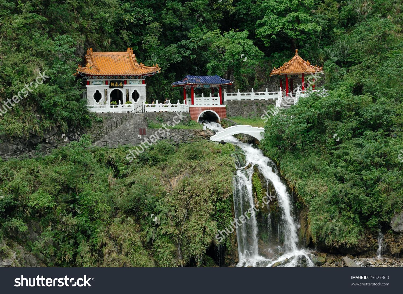 Taiwan Taroko National Park Changchun Eternal Stock Photo 23527360.