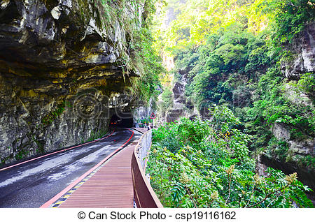 Stock Image of Taroko Gorge, Taiwan's number one tourist site.