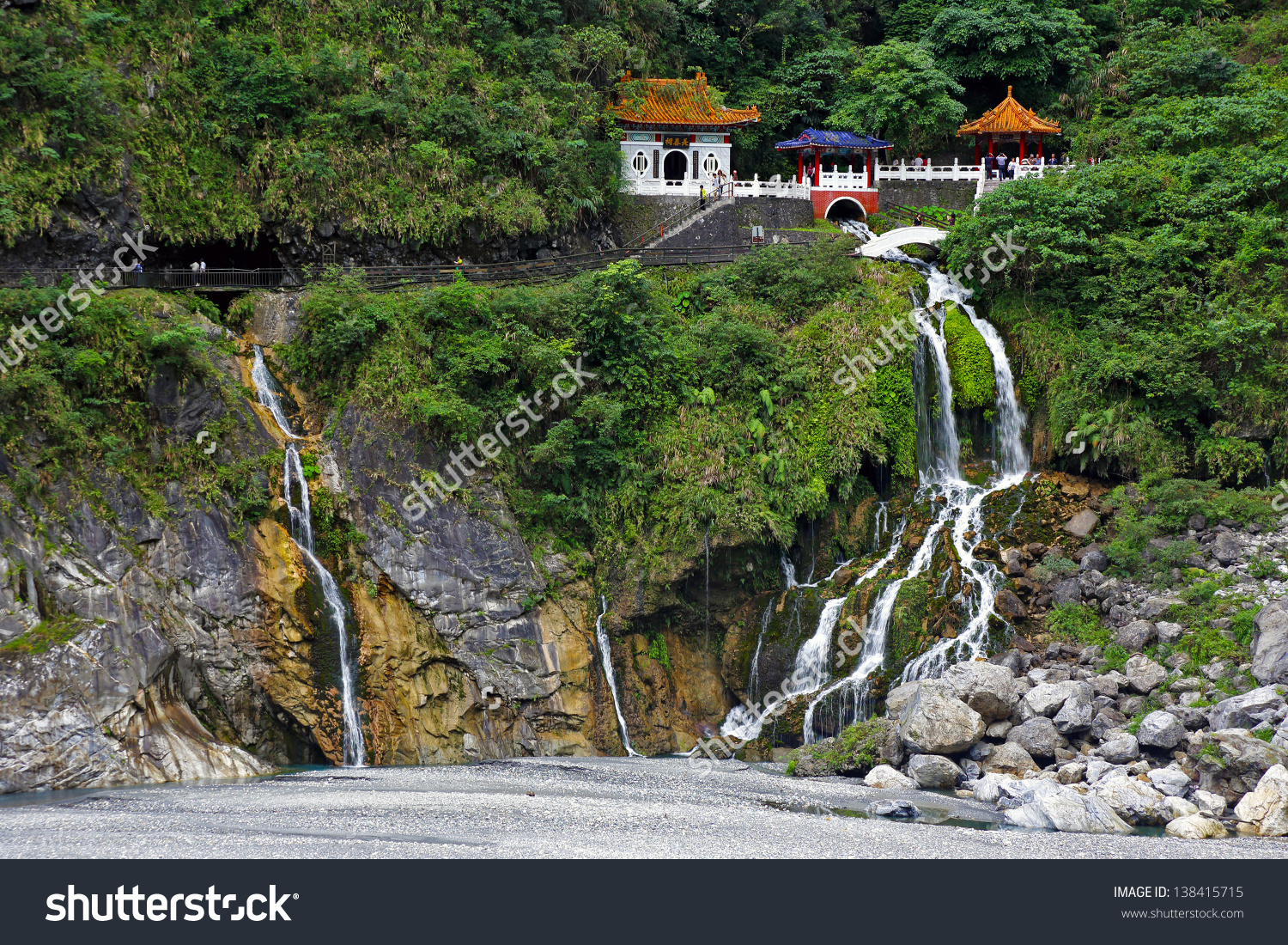 Changchun (Eternal Spring) Shrine.Taroko National Park.Taiwan.