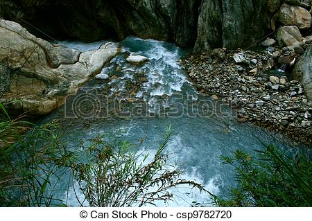 Stock Photography of Taroko Gorge waterfall.