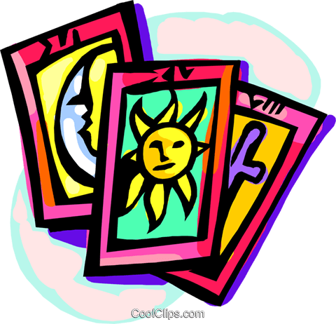 tarot cards Royalty Free Vector Clip Art illustration.