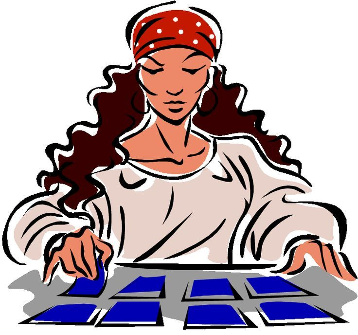 tarot card readings clipart.