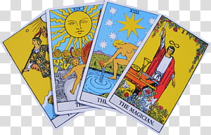 Riderwaite Tarot Deck transparent background PNG cliparts.