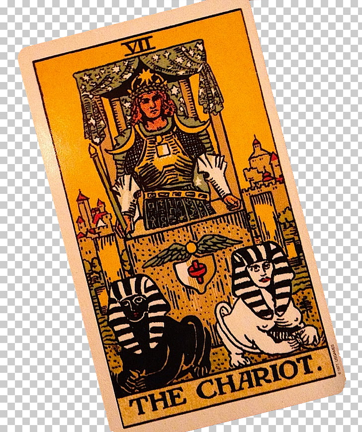 The Chariot Tarot Numerology Playing card, tarot cards PNG.