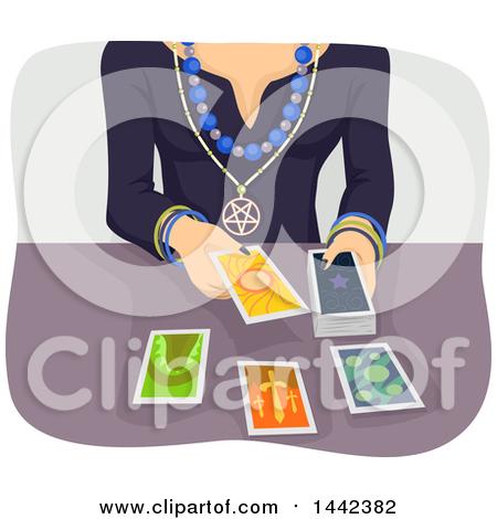 Clipart of a Gypsy Tarot Cards.